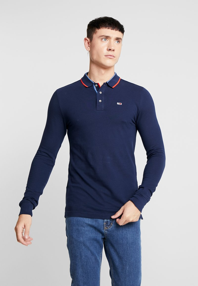 Tommy Jeans - STRETCH LONGSLEEVE  - Polo shirt - dark blue