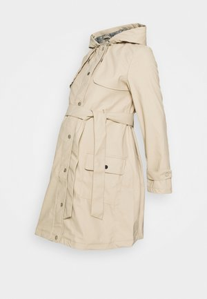 MATERNITY RAINCOAT - Waterproof jacket - stone