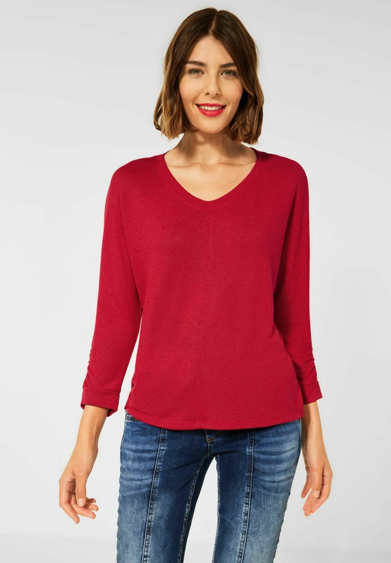 Street One - MIT RAFFUNG - Long sleeved top - rot