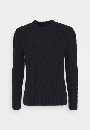 JACOB CABLE CREW - Pullover - downhill navy