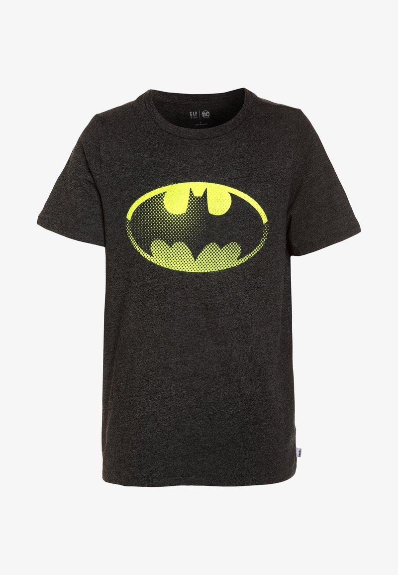GAP - DC COMICS BATMAN BOYS SHIELD TEE - Print T-shirt - true black