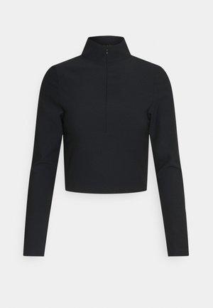 QUINN QUARTER ZIP LONG SLEEVE - Long sleeved top - black