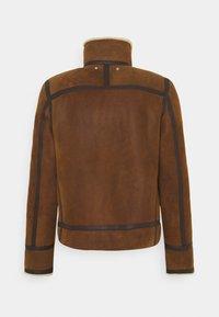 PS Paul Smith - JACKET - Veste en cuir - brown - 1