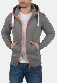Solid - BENN  - Zip-up hoodie - grey melange - 2