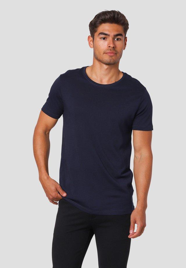 NOAH O - Basic T-shirt - dk.navy