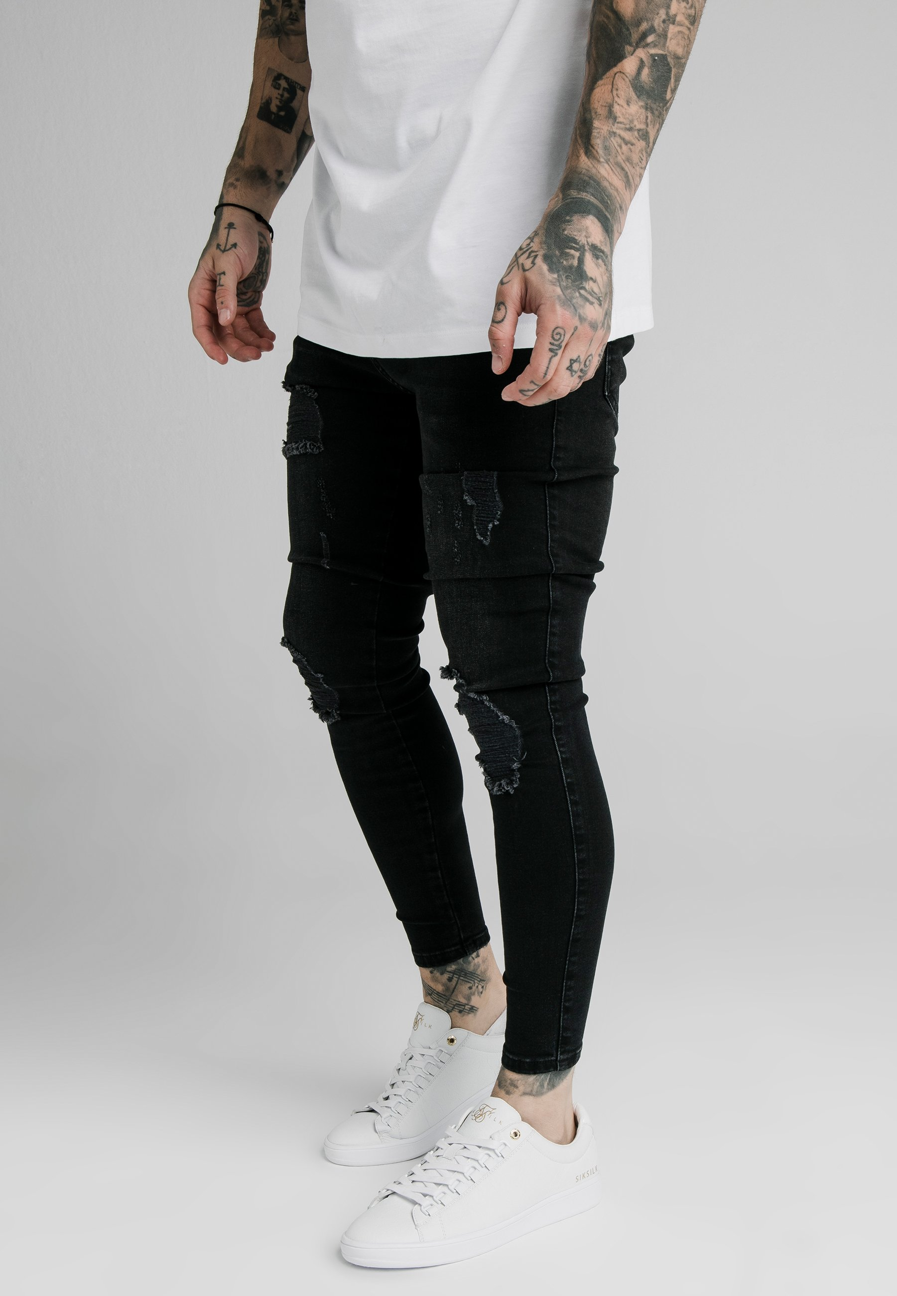Men SIKSILK SKINNY DISTRESSED - Jeans Skinny Fit