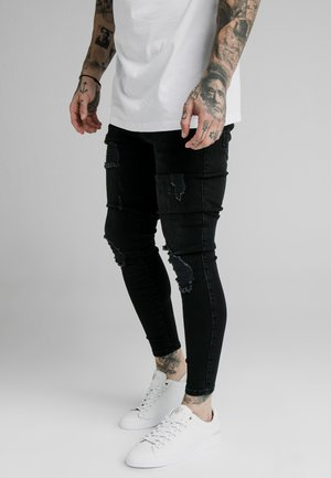 SIKSILK SKINNY DISTRESSED - Vaqueros pitillo - carry over
