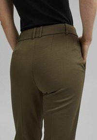 Esprit Collection - Trousers - dark khaki - 3