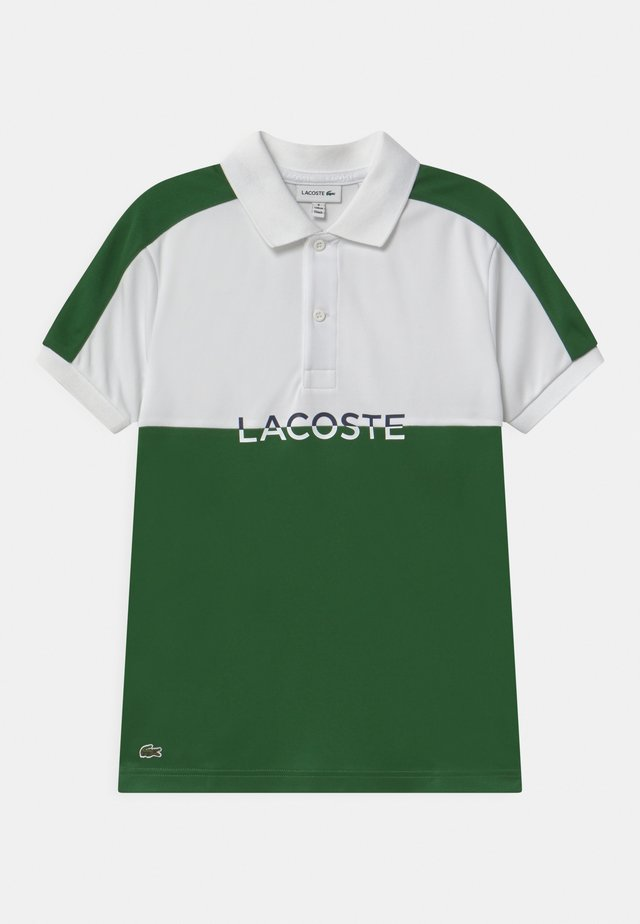 Polo shirt - white/green