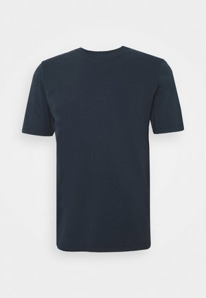 CONTRAST SLEEVE TEE - T-shirts basic - navy