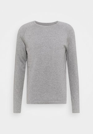 BASIC CREWNECK - Jumper - heather grey melange
