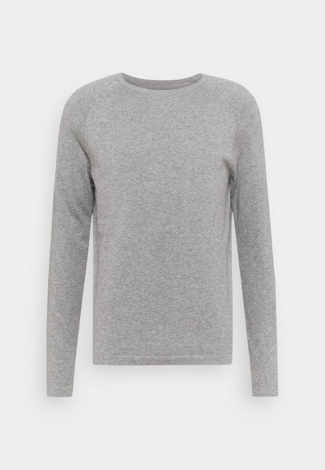 BASIC CREWNECK - Svetr - heather grey melange