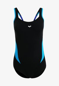Arena - MAKIMURAX LOW CUP - Swimsuit - black/bright blue/turquoise - 4