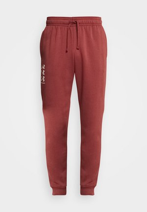 RIVAL MULTILOGO - Tracksuit bottoms - cinna red/onyx white