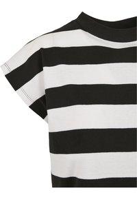 Urban Classics - STRIPE - T-shirt print - black/white - 7