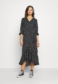 Vero Moda - VMHENNA 7/8 CALF DRESS VIP GA - Day dress - black/white - 0