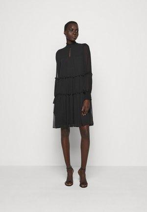 DIVINE RUFFLE DRESS - Jurk - black