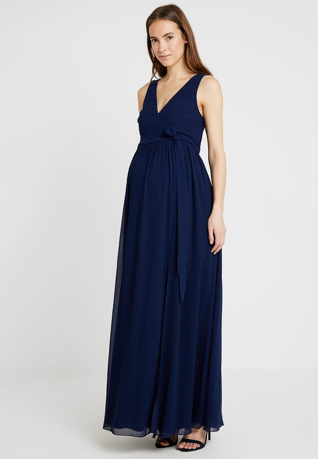 EXCLUSIVE V NECK DRESS - Robe longue - navy