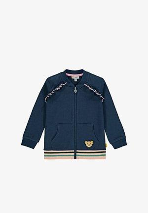 SWEET HEART MIT RÜSSCHE - Sweater met rits - steiff navy