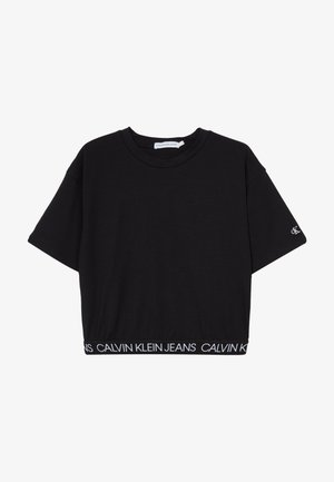 LOGO WAISTBAND CROPPED - T-Shirt basic - black