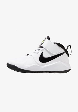 TEAM HUSTLE 9 UNISEX  - Scarpe da basket - white/black/volt