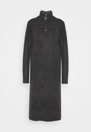 NMDOMINIC DRESS  - Jumper dress - dark grey melange