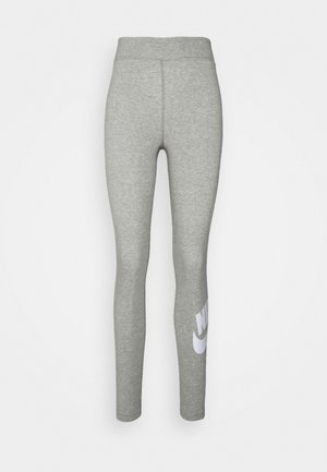 FUTURA - Leggings - dk grey heather/white