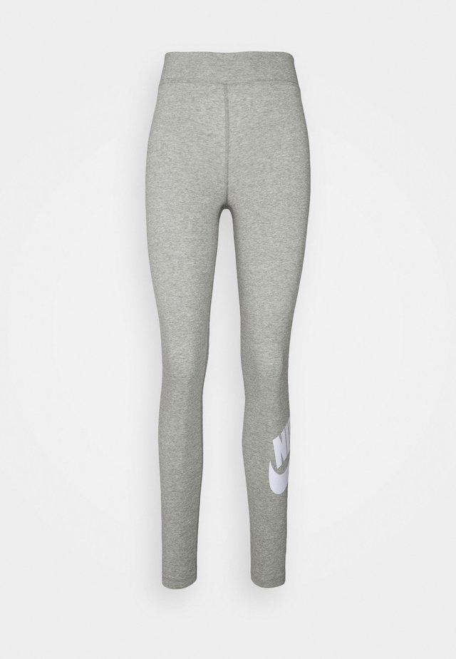 FUTURA - Legging - dk grey heather/white