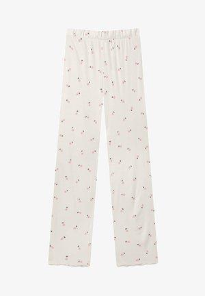 MIT BLUMENPRINT  - Bas de pyjama - beige