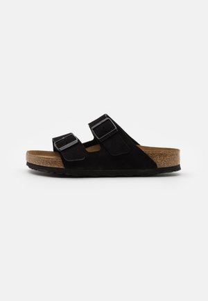 ARIZONA SOFT FOOTBED UNISEX - Sandalias planas - black