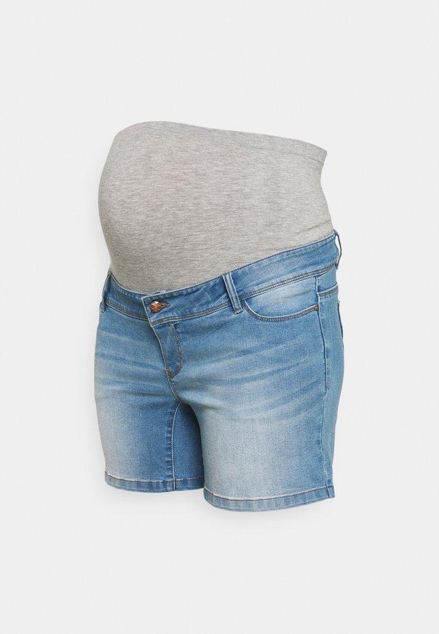 MLPASO HIGH BACK - Shorts di jeans - light blue denim/wash