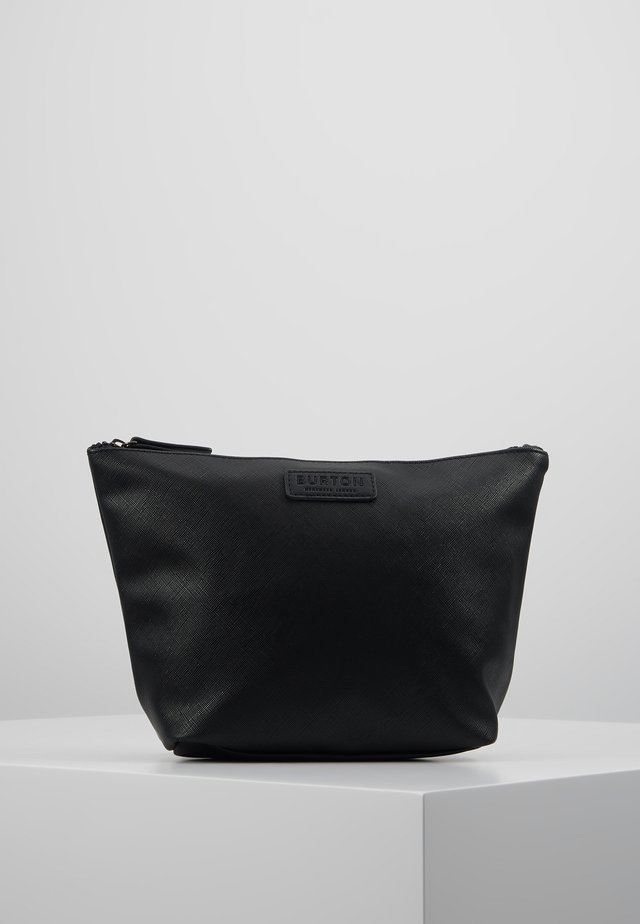 BLACK SAFFIANO WASHB - Wash bag - black