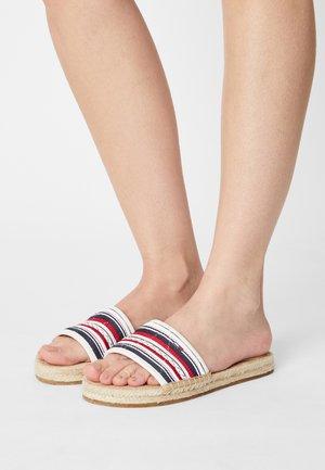 COLORED LACES FLAT - Pantofle - ecru
