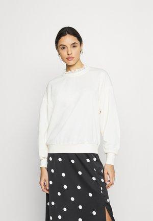 ONLLISA O NECK - Sweatshirt - ecru
