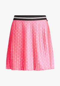 WE Fashion - MET STIPPEN EN GLITTERDETAILS - A-lijn rok - bright pink - 3