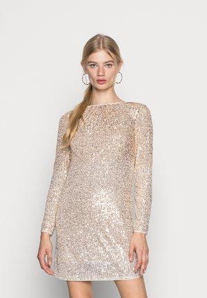 RAVEL TUNIC DRESS - Sukienka koktajlowa - gold cream obre