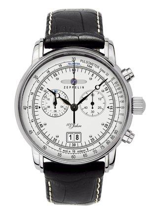 Chronograph watch - schwarz/weiß