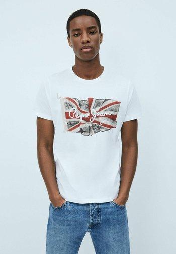 FLAG - T-shirt med print - optic weiss