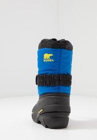 Sorel - YOUTH FLURRY - Zimní obuv - black/super blue - 4