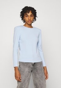 ONLY - ONLTANJA LIFE O NECK - Long sleeved top - cashmere blue - 0