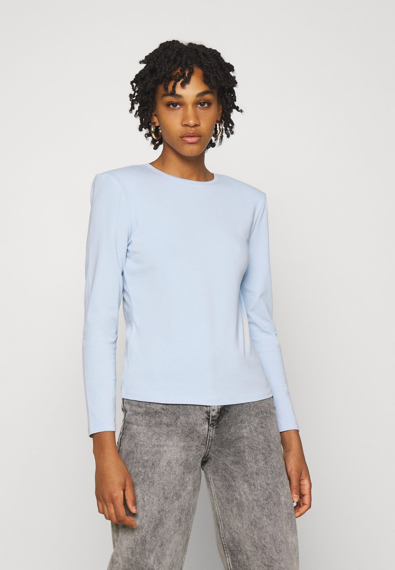ONLY - ONLTANJA LIFE O NECK - Long sleeved top - cashmere blue