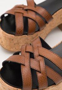WEEKEND MaxMara - RITO - Platform sandals - kamel - 6
