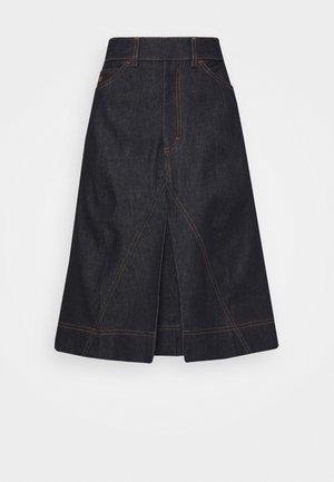 PLEAT DETAIL SKIRT - A-line skirt - raw indigo