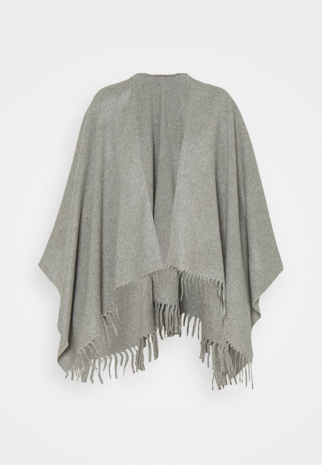 PONCHO - Cape - grey