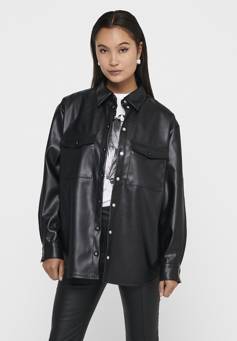 ONLY - ONLRUMA  - Button-down blouse - black
