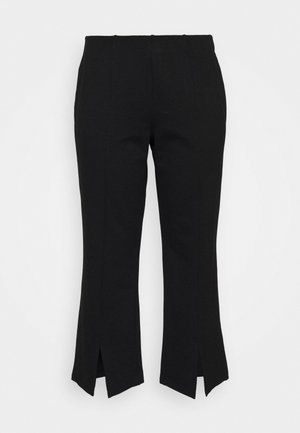 NMSKYLER SLIT PANTS - Trousers - black