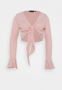 Dorothy Perkins - BRUSHED WRAP TOP - Cardigan - pink - 0
