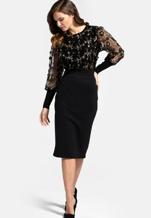 EMBROIDERED EMMA - Cocktail dress / Party dress - black