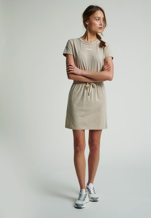 Korte jurk - humus melange