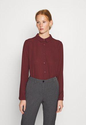 FILO PRINT - Skjorte - maroon grid